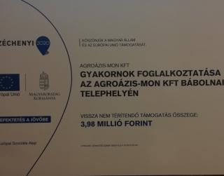 Gyakornok foglalkoztatása az Agroázis-MON Kft. Bábolnai telephelyén