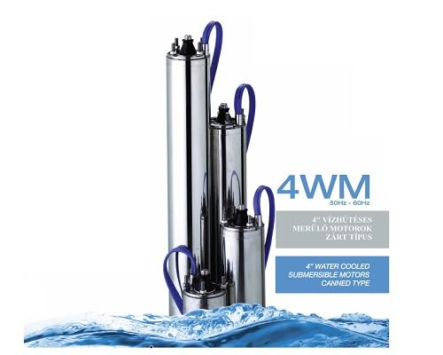 PM 4 WM vízhűtéses merülő motorok, szivattyúk